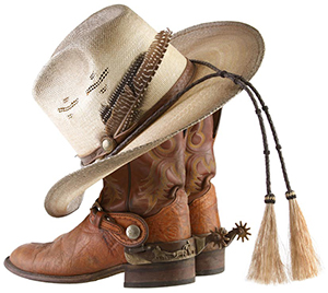 Ranch Rack Boots and Hat
