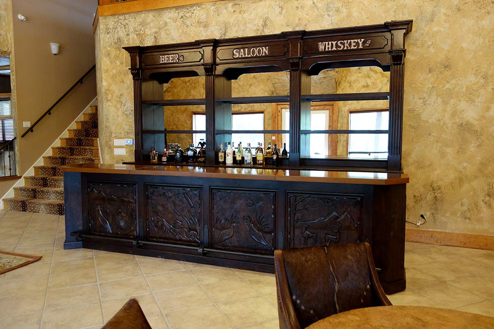 Ranch Rack Custom Design Old West Saloon Bar, San Antonio, Texas