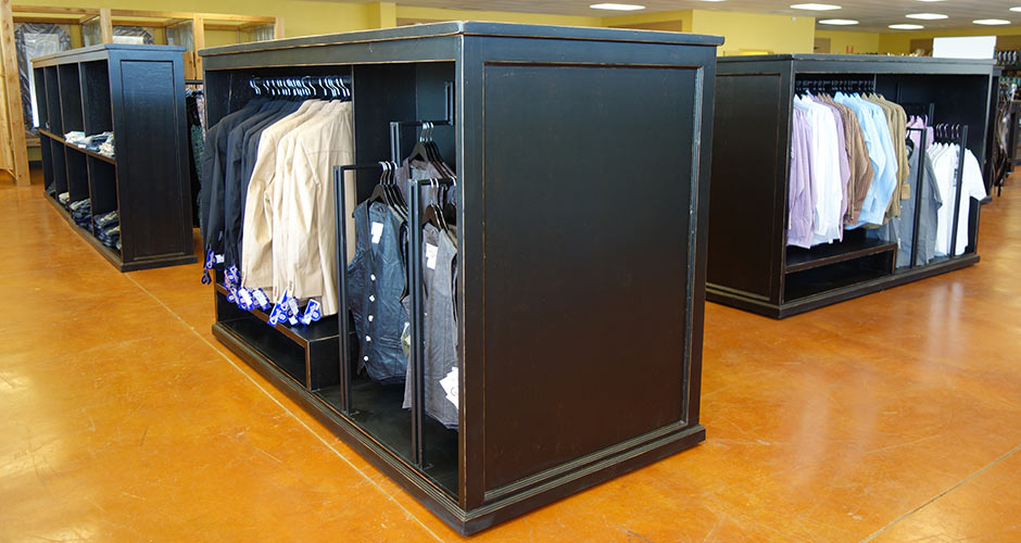Ranch Rack Hanging Display Cabinets