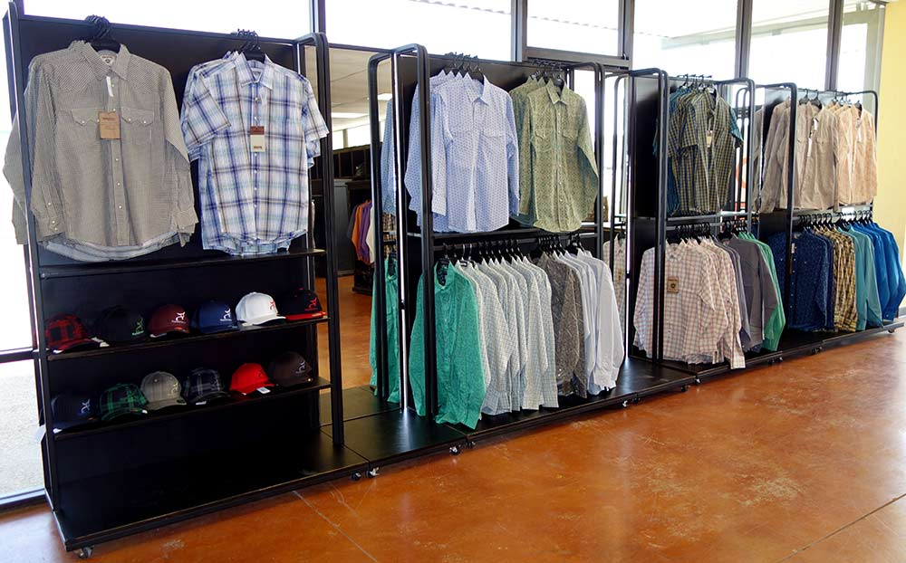 Ranch Rack Rolling Displays for Western Wear, San Antonio, Texas