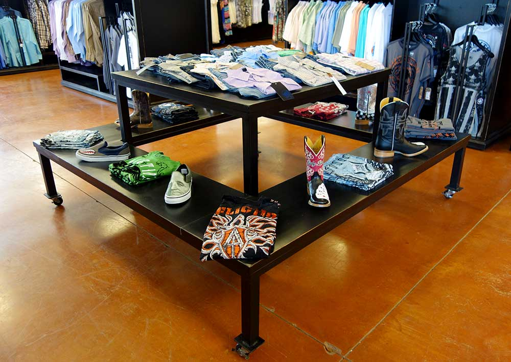 Ranch Rack Squaree Rolling Carousel for Western Wear and all clothing displays